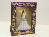 "NEW ITEM!! 4"" X 6"" Purple Frame w Gold Leaf"