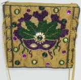 Beaded Mask Evening Bag