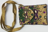Beaded Mask Cross Body bag