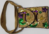 Beaded Jester Hat Cross Body Bag