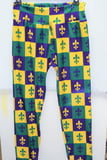 FDL Block Mardi Gras Leggings Child