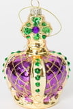 "2.75"" Glass Crown Ornament"