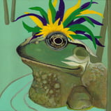 Frog Collection Mardi Gras Card