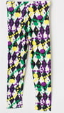 Diamond and Dot Pattern Children Straight Leggings SZ 6-8