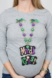 "23""L Mardi Gras Bead and Necklace Ribbon"