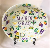 Large Mardi Gras Serving Bowl