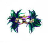 "15"" X 10"" MARDI GRAS FEATHER MASK"