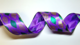 "2.5"" x 10 YD Purple Baubble Ribbon"